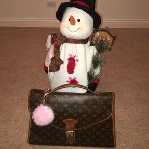 💯 authentic LV briefcase bag